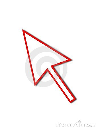 Cursor Arrow Mouse Red Line