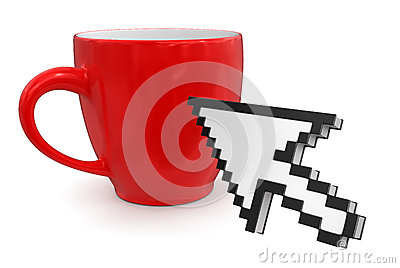 Cursor and cup(clipping path included)
