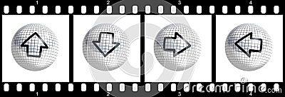 Cursor film strip