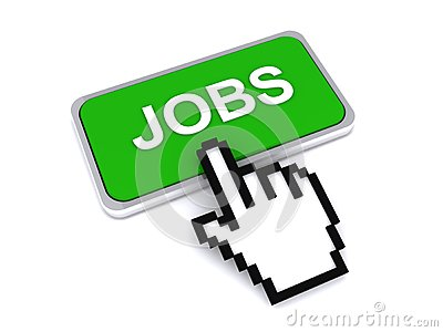 Cursor hand on jobs button