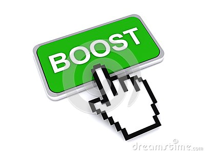Cursor hand over boost button
