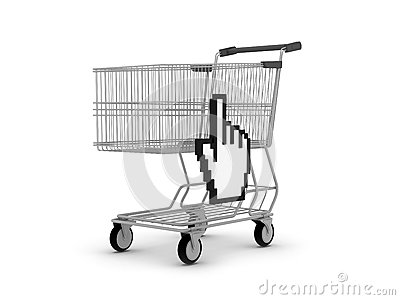 Cursor hand and shopping cart