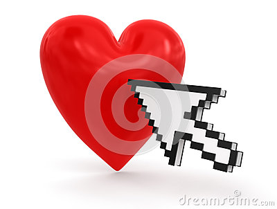 Cursor and heart (clipping path included)