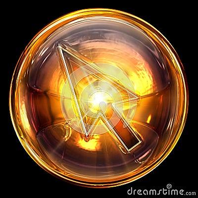 Cursor icon glass
