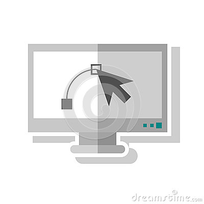 Cursor inside computer design Vector Illustration