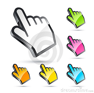 Free Cursor Set Stock Images - 18580594