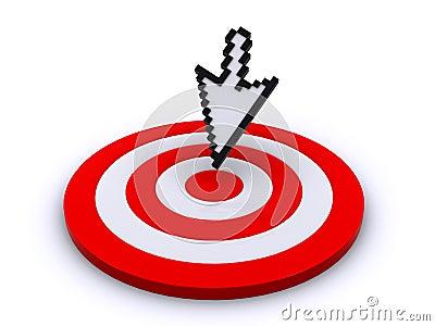 Cursor and target