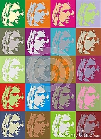 Curt Cobain portraits