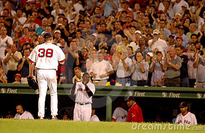 Curt Schilling walking off the mound Editorial Photo