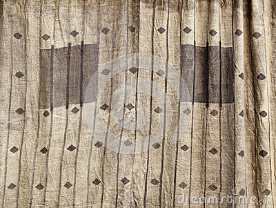 Curtain decorated