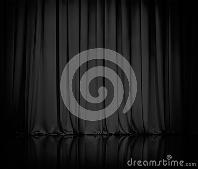 Curtains Ideas black theater curtains : Curtain Or Drapes Black Theater Background Stock Photography ...