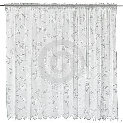 Free Curtain Isolated On White Stock Image - 71456801