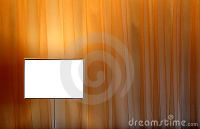 Curtain and lamp