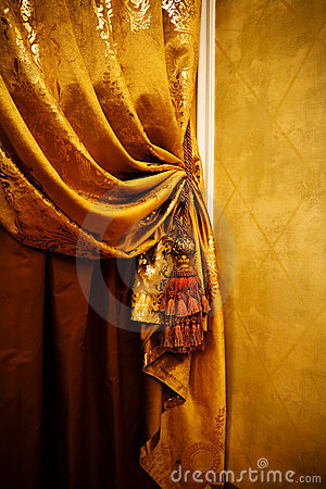 Curtain with an ornament