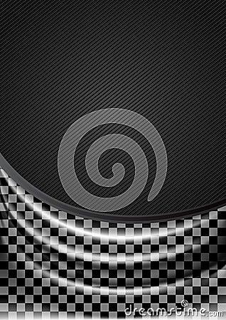 Curtain, silk tissue on checkered background