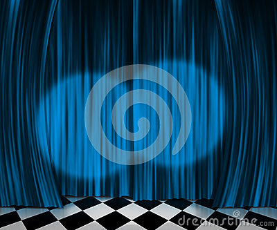 Curtain Spotlight Stage Background