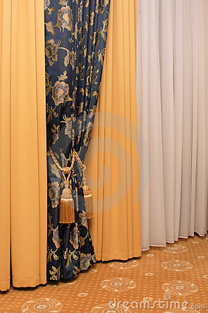 Curtain with tassel