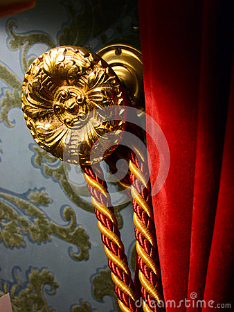 Curtain tie back and hook