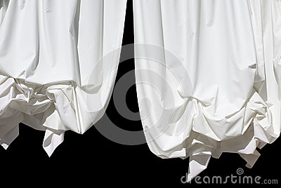 Curtains on Black