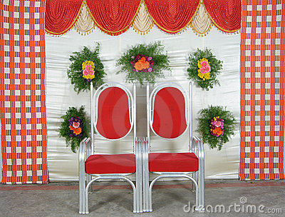 Curtains with chairs