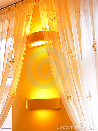 Free Curtains In Atmospheric Light Royalty Free Stock Images - 7654679
