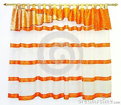 Bamboo Ring Curtain ~ Orange - Beaded Curtains, Bead Curtains