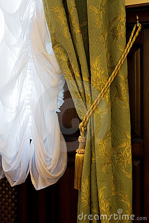 Curtains with an ornament