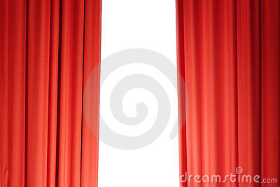 Curtains in red