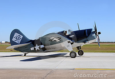 Curtiss SB2C Helldiver used by the Navy in WW2 Editorial Stock Image