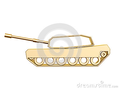 Curva dorata del carro armato