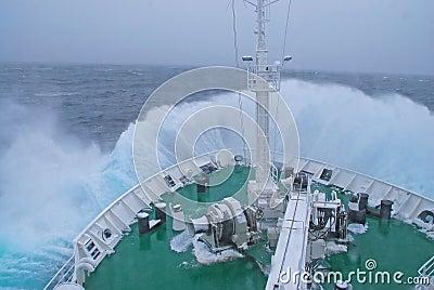 Curva dos navios