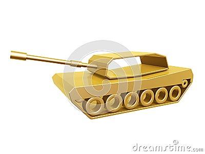 Curva dourada do tanque