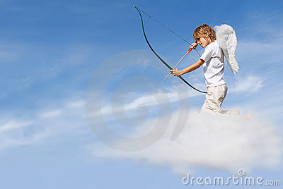Curva e seta do despedimento do Cupid