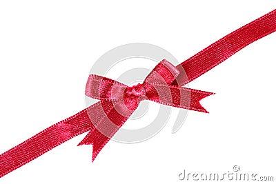 Curva vermelha da fita
