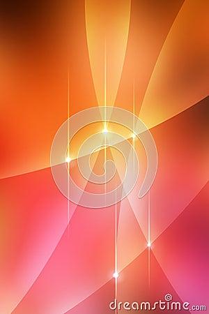 Curvas calientes abstractas