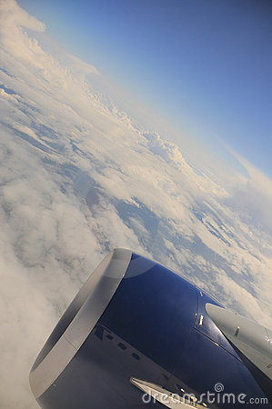 Curvature of the Earth (Airplane window view)