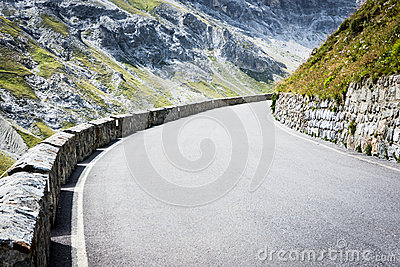 Curve at the alps