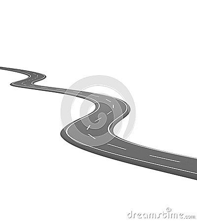 Curve asphalt road 02