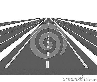 Curve asphalt road 07