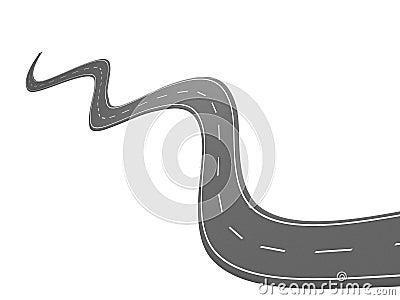 Curve asphalt road 08
