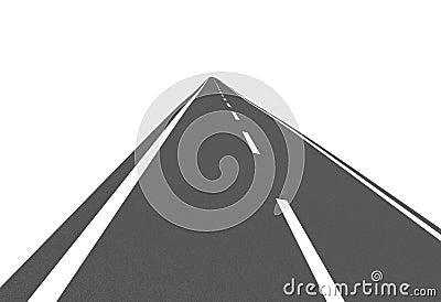 Curve asphalt road 09
