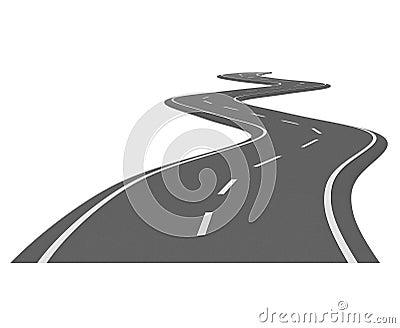 Curve asphalt road 7