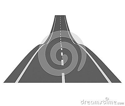 Curve asphalt road