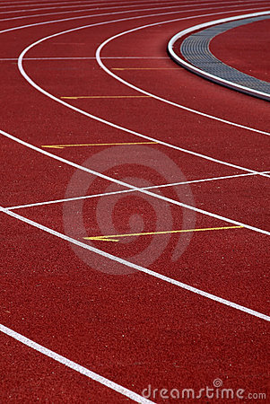 Free Curve Athletics Running Track Royalty Free Stock Images - 1074679
