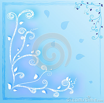 Curve blue background