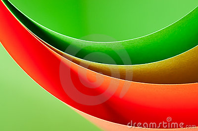Curve color paper background