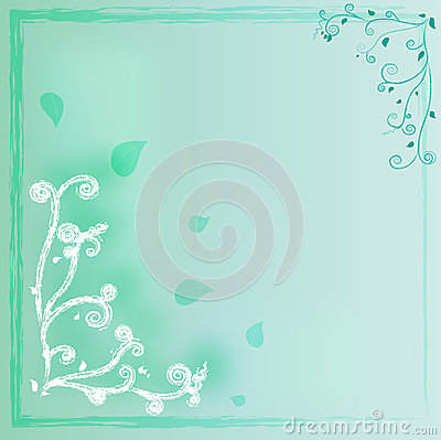 Curve green background