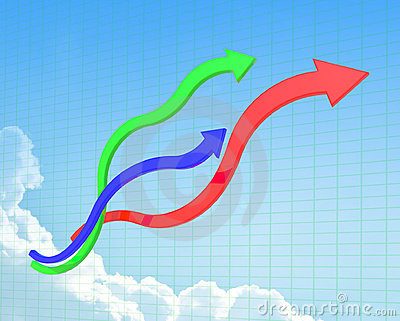 Curve line of chart