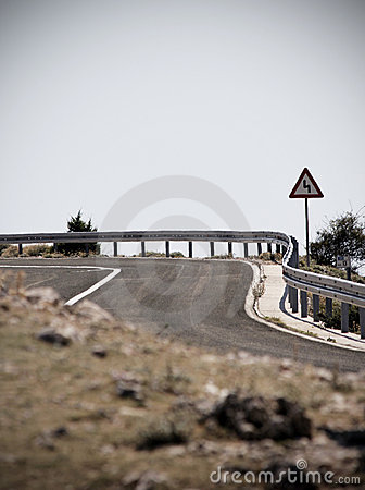 Curve on road