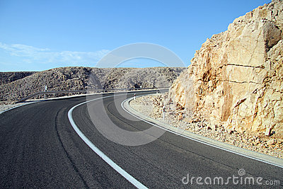 Curve on the road